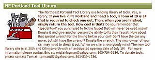 NE Portland Tool Libraty